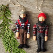 lumberjack ornaments by west elm i m convinced they re williamsburg