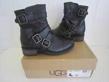 ugg womens finney boots ugg australia leather motorcycle casual boots for ebay