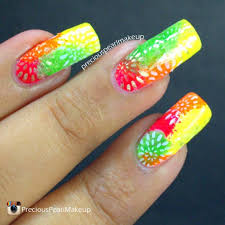 45 most beautiful multicolor nail art design ideas