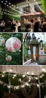 hanging lights lanterns at wedding receptions the celebration