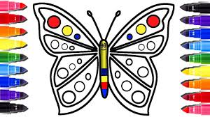 for kids butterfly coloring page and heart youtube videos for