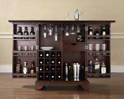 antique dark brown wood small bar design for sweet home with
