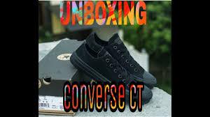 Sepatu Converse Black unboxing converse ct black unboxing sepatu converse