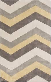surya cosmopolitan geometric area rug yellow gray room