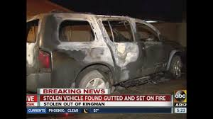 Wildfire Kingman Az by Pd Stolen Vehicle From Kingman Set On Fire In Phoenix Abc15 Arizona