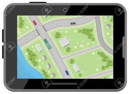free maps and driving directions map with driving directions top view black digital tablet