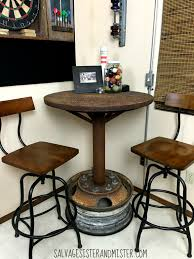 industrial bar table game rooms upcycle and wheels