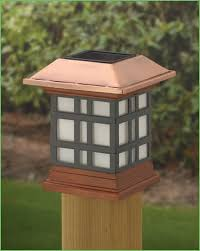 Solar Lights Fence - lighting white solar fence post cap lights designer solar metal