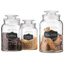 clear glass canisters for kitchen clear kitchen canisters