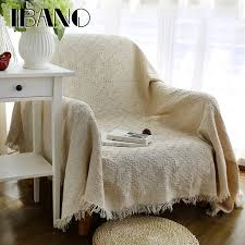 throw blankets for sofa solid color cotton throw blanket sofa cover 130x180cm vintage ibano