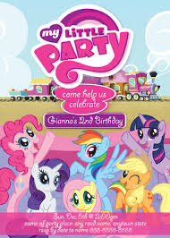 my little pony party invitation u2013 orderecigsjuice info