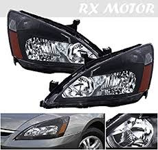 2006 black honda accord coupe amazon com 2003 2006 honda accord coupe sedan headlight direct