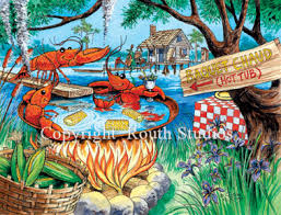 louisiana greeting cards cajun greeting cards crawfish tub