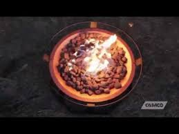 camco 51210 small propane patio fire pit youtube