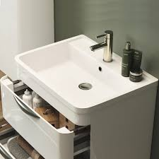 premier parade vanity unit fpa004 800mm floor mounted white
