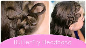 how to make a butterfly braided headband cute hairstyle ideas