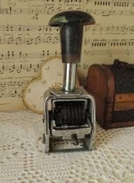 Mechanical Decor Vintage Mechanical Metal Number Machine Office Stamp Vintage