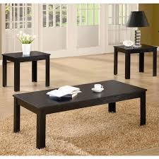 Black L Tables For Living Room Coaster Casual 3 Occasional Table Set In Black 700225