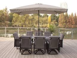 Outdoor Patio Dining Sets With Umbrella - amazon com 9pc palmetto wicker patio dining set and olifen