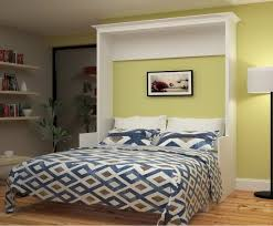 Full Size Bed With Desk Gabriella Full Murphy Bed With Desk White Mdh Modern Manhattan