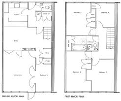 5 Bedroom 2 Story House Plans by 5 Bedroom Townhouse Floor Plans Home Decorating Interior Design
