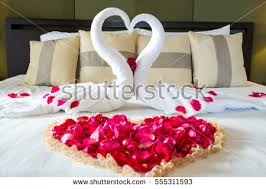 Rose Petals Room Decoration Rose Petals On Bed Stock Images Royalty Free Images U0026 Vectors