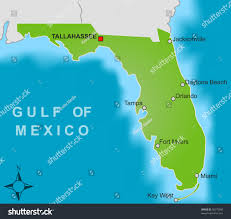 Map Of State Of Florida by Stylized Map State Florida Showing Different Stock Illustration