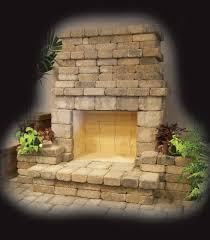 Outdoor Fieldstone Fireplace - outdoor fireplaces fire rings u0026 patio living products