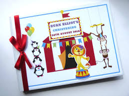 themed guest book birthday circus theme guest book personalised memory book