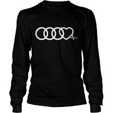 audi logo heart beat shirt ddteeshirt com