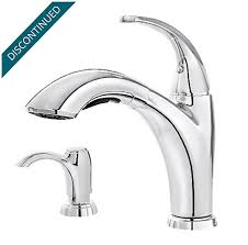 pfister selia kitchen faucet polished chrome selia 1 handle pull out kitchen faucet f 534