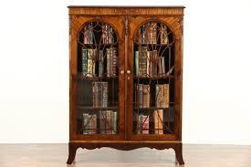bookcases with glass doors ebay bathroom floor cabinet white