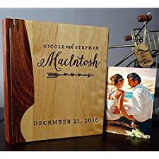 engraved photo albums personalized wood cover photo album custom engraved wedding album