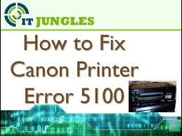 cara reset printer canon ip 2770 eror 5100 how to fix canon printer error 5100 youtube