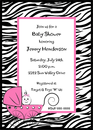 Baby Shower Invitations Downtown Los Angeles Zebra Print Baby Shower Invitations U2013 Gangcraft Net
