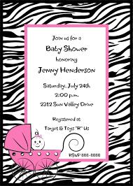 zebra print baby shower invitations u2013 gangcraft net