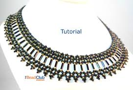bugle bead collar pattern seed bead necklace pattern