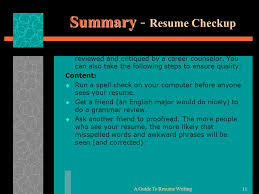 Get Your Resume Reviewed Writing The Effective Resume Curriculum Vitae Cv Ppt Download