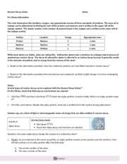 Charles Worksheet Answer Key 4 Nuclear Decay Gizmo Nuclear Decay Gizmo Name Pre Gizmo