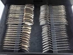fuchsia by georg jensen klokke sterling flatware set fitted box