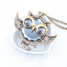 long owl pendant necklace images Long chain necklace retro alloy rhinestone owl pendant owloveme jpg