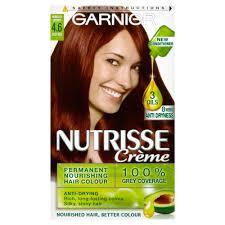 rich cherry hair colour garnier nutrisse creme permanent 4 6 morello cherry deep red