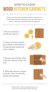 how to clean wood kitchen cabinets infographic cabinet mania