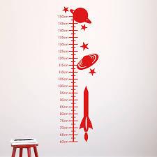 space rockets kids height chart by mirrorin notonthehighstreet com