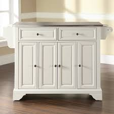 kitchen island stainless steel top darby home co abbate kitchen island with stainless steel top