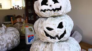 halloween 2016 1st project paper mache jack o u0027lantern youtube