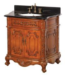 Wood Bathroom Cabinets Antique Wooden Bathroom Vanity With Aesthetic Carving