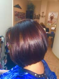 red brown long angled bobs angled bob fall color red brown subtle highlight cherry coke red