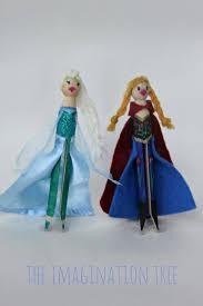 diy elsa anna peg dolls frozen imagination tree