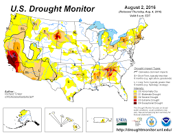 United States Climate Regions Map by Drought July 2016 State Of The Climate National Centers For